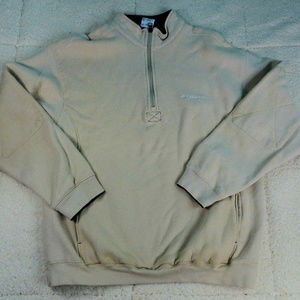 Columbia Tan Quarter Zip Jacket Medium